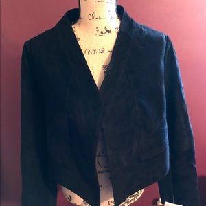 ROAMAN'S Women's Plus size 14W Black Suede Jacket